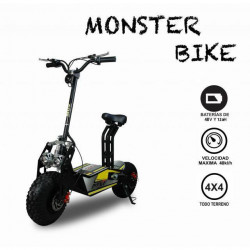 BICICLETA - PATINETE ELÉCTRICO TODO TERRENOMONSTERBIKE OFF-ROAD 1600W BRUSHLESS