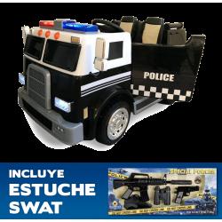 CAMION DE POLICE POUR LES...