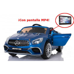 MERCEDES SL65 TELA MP4 AZUL METALIZADO 12V 2.4 G