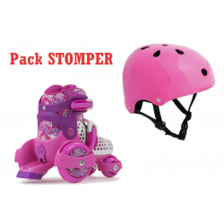 PACK PATIN AJUSTABLE STOMPER + CASCO