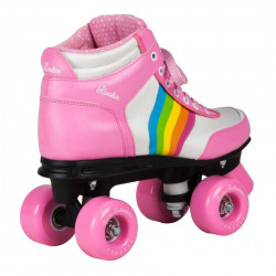 PATINS de ROOKIE de l'arc-en-ciel V2 ROSE
