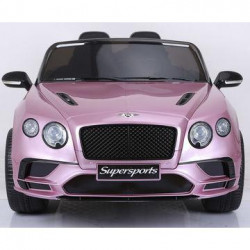 Carro infantil de 12v Bentley Continental Rosa