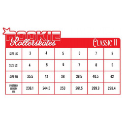 SKATES CLASSIC FOUR-WHEEL ROOKIE CLASSIC II