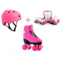 PACK PATINES CON LUCES DE CUATRO RUEDAS FIGURE