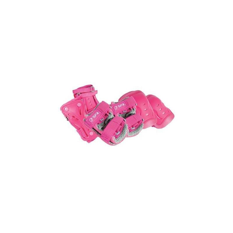 PACK DE PROTECTIONS-ROSE/GRIS